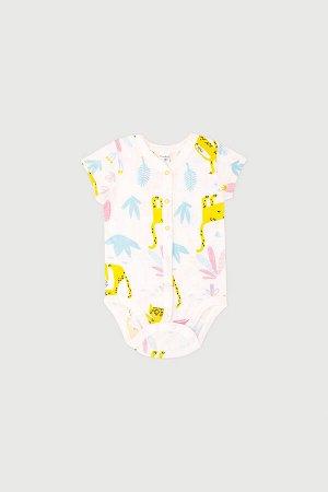 Полукомбинезон(Весна-Лето)+baby (маленькие леопарды на сахаре)