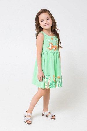 Платье(Весна-Лето)+girls (весенняя зелень к1246)