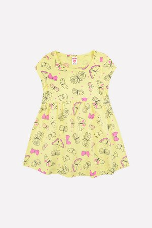 Платье(Весна-Лето)+girls (бледно-желтый, бабочки)