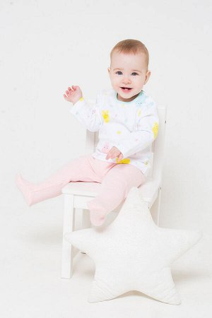 Джемпер(Весна-Лето)+baby (веселый дождик на белом)