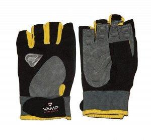 Мужские перчатки VAMP RE 02  цвет жетло-черный
