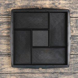 Форма для тротуарной плитки «Плита. Калифорния», 30 ? 30 ? 3 см, Ф12006, 1 шт.