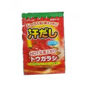 """""""Hakugen Earth"""" """"Asedashi"""" Согревающая соль для ванны с экстрактом перца, пакетик 25 гр."""