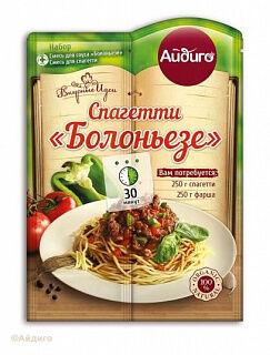 """Спагетти""""Болоньезе"""",""""дв. пакет"""" 40 гр, Айдиго"""