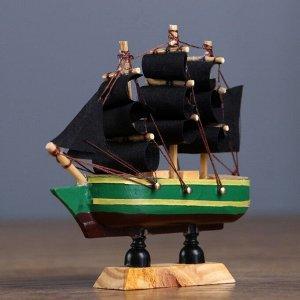 Корабль сувенирный малый «Испаньола», борта с полосой, микс, 3?10?10 см