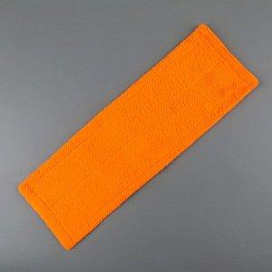 Насадка для плоской швабры Доляна, 41,5?12,5 см, 50 гр, микрофибра, цвет МИКС