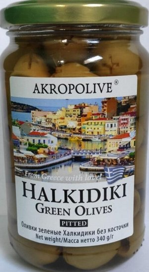 Оливки зеленые без косточки Халкидики