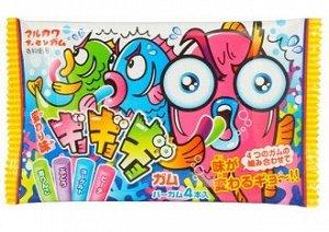 """Резинка жевательная Marukawa Crazy Fish """"Ассорти из 4 вкусов"""" (зел яблоко, виноград, персик, лимонад) 12.6г,"""