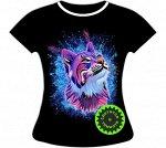 Женская футболка Рысь 859