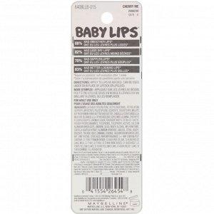 Maybelline, Увлажняющий бальзам для губ Baby Lips, вишня, 4,4 г
