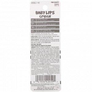 Maybelline, Baby Lips Crystal, увлажняющий бальзам для губ, розовый кварц 140, 4,4 г