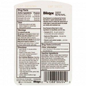 Blistex, Глубокое обновление, средство против старения лечения, средство защиты губ/солнцезащитный крем, фактор защиты SPF 15, 0,13 унций (3,69 г)