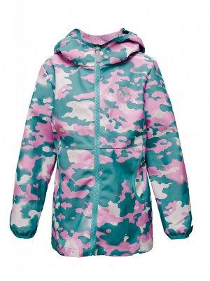 Куртка В19044 Розовый камуфляж