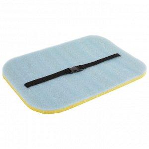 Коврик-сидушка с креплением на резинке, 40 х 30 см, толщина 15 мм, с фольгой