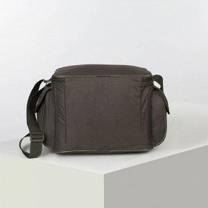 Сумка туристическая, отдел на молнии, 3 наружных кармана, цвет хаки