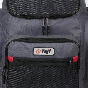 Рюкзак туристический, 40 л, отдел на молнии, 3 наружных кармана, цвет серый