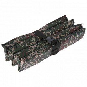 Сиденье туристическое складное с креплением на резинке, 6 деталей, 35 х 28 х 1,5 см, цвет МИКС