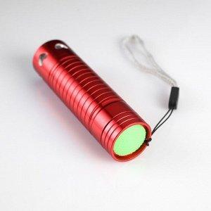 Фонарь ручной 1 LED, на рассеивателе сердца, 3 ААА, микс, 9 см микс