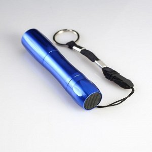 Фонарь ручной в виде гантели, 1 LED, 1 АА, микс, 9.5х2 см
