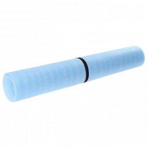 Коврик туристический, 180 х 95 см, толщина 5 мм, цвет голубой