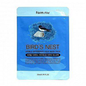 Farm Stay Visible Difference Bird's Nest Aqua Mask Pack Восстанавливающая маска для лица с экстрактом ласточкиного гнезда