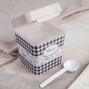 Ёмкость Альтернатива «плетёнка. Соль», 1,2 л, с ложкой