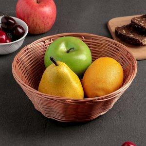 Корзинка для фруктов и хлеба Доляна «Капучино», 20?7 см