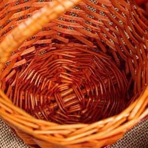"""Корзина плетеная """"Ажурная"""". цвет бронзовый. 19 х 19 х 24 см"""