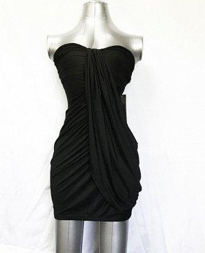 Платье вискозное черное