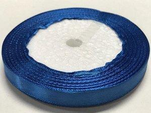 Лента атласная 1 см бобина 22м насыщенно-синий (40)