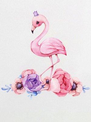 "Шапочка с принтом ""Принцесса фламинго"""