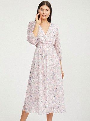 Платье-миди с растительным принтом
