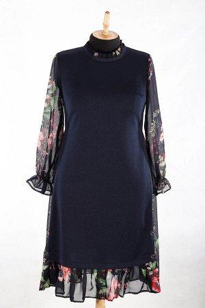 Трикотажное платье миди без застежки