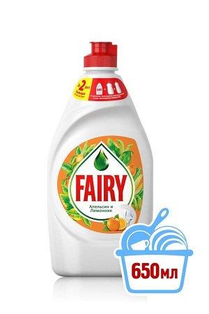FAIRY Средство для мытья посуды Апельсин и лимонник (650 мл)
