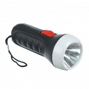 Чингисхан фонарь, 1 led, 1вт, 2xaa, 11см, пластик, 1 режим