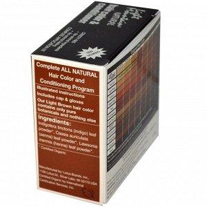 Light Mountain, Натуральный краситель для волос и кондиционер, светло русый, 4 унции (113 гр)