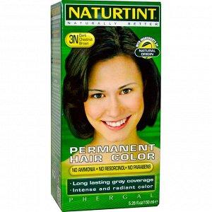 Naturtint, Стойкая краска для волос, каштаново-коричневый 3N, 150 мл (5,28 жидкой унции)