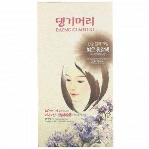Doori Cosmetics, Daeng Gi Meo Ri, краска для волос с лекарственными травами, оттенок светло-каштановый, 1 набор