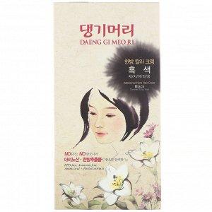 Doori Cosmetics, Daeng Gi Meo Ri, краска для волос с лекарственными травами, оттенок черный, 1 набор