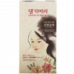 Doori Cosmetics, Daeng Gi Meo Ri, краска для волос с лекарственными травами, шатен, 1 набор