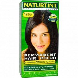 Naturtint, Стойкая краска для волос, 1N оттенок «Черное дерево», 5.28 жидких унций (150 мл)