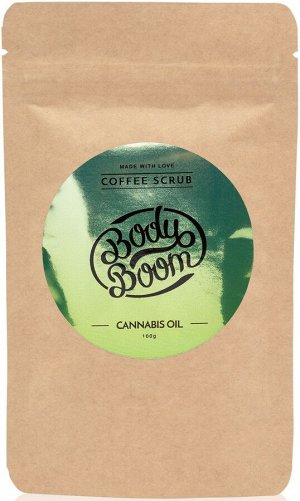 BODY BOOM Кофейный скраб для тела Cannabis oil 100г (*8)