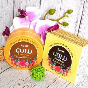 Koelf Gold & Royal Jelly Hydrogel Eye Patch  патчи для кожи вокруг глаз с золотом и маточным молочком