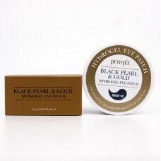 Petitfee Black Pearl & Gold Hydrogel Eye Patch - Осветляющие патчи с экстрактом черного жемчуга и золотом 60шт