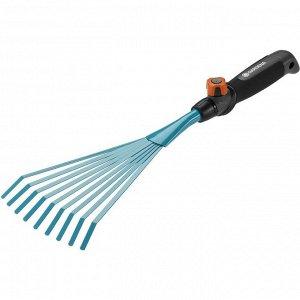 Грабли ручные 12 см  (ручной садовый инструмент / насадка для комбисистемы)
