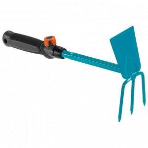 Мотыжка ручная 6.5 см с 3 зубцами (ручной садовый инструмент-насадка для комбисистемы)