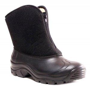 Сноубутсы Дюна, артикул 128, цвет черный, материал текстиль, ЭВА