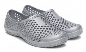 Туфли открытые Дюна, артикул 852, цвет серый, материал ПВХ