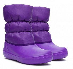 Сапоги зимние Дюна, артикул 547, цвет фиолетовый, материал текстиль