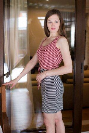 Платье 45705221 цвет красный